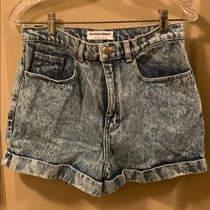 American American acid wash shorts